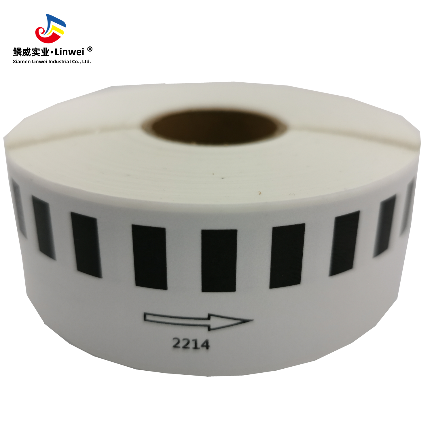 Compatible with Brother DK-2214 DK2214 Continuous Length Paper Tape <strong>Labels</strong> <strong>P</strong>-Touch 1/2&quot; x <strong>100</strong>' (12mm x 30.4m) Black on White