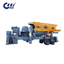 250 TPD granite mobile crusher plant cone mobile rock stone crushing plant