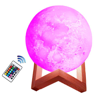 WW NW CW lighting wireless desk lamp touch control kids gift moon light 3D led night lamp for home