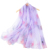 Scarf Supplier China Factory Lady's Fashion Purple Printed Flower Scarves