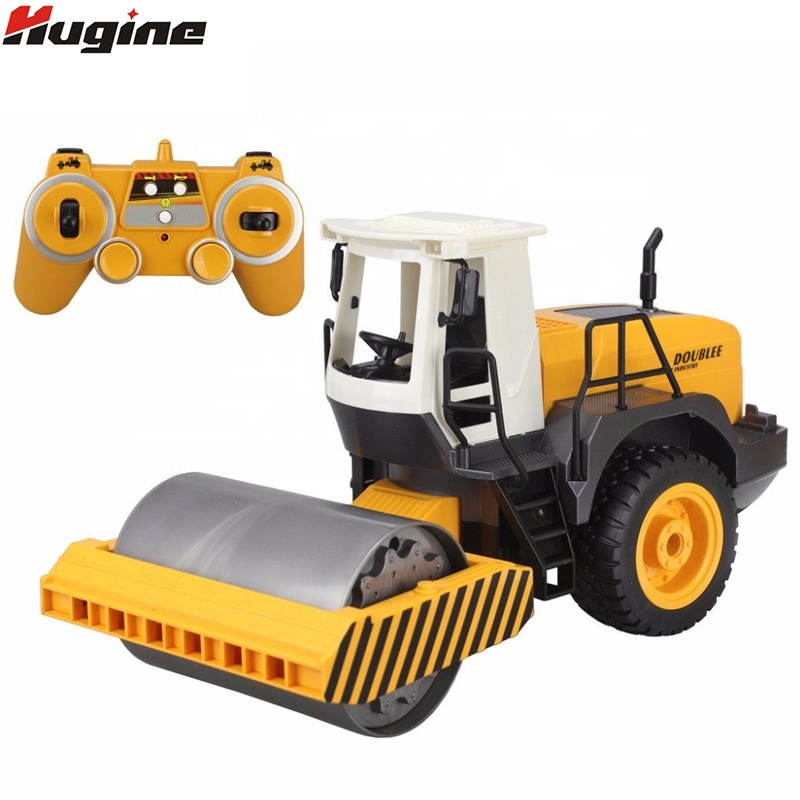 RC Truck Road Roller 2.4G <strong>Remote</strong> Control Single Drum Vibrate 2 Wheel Drive Engineer Electronic Truck Model Hobby Toys