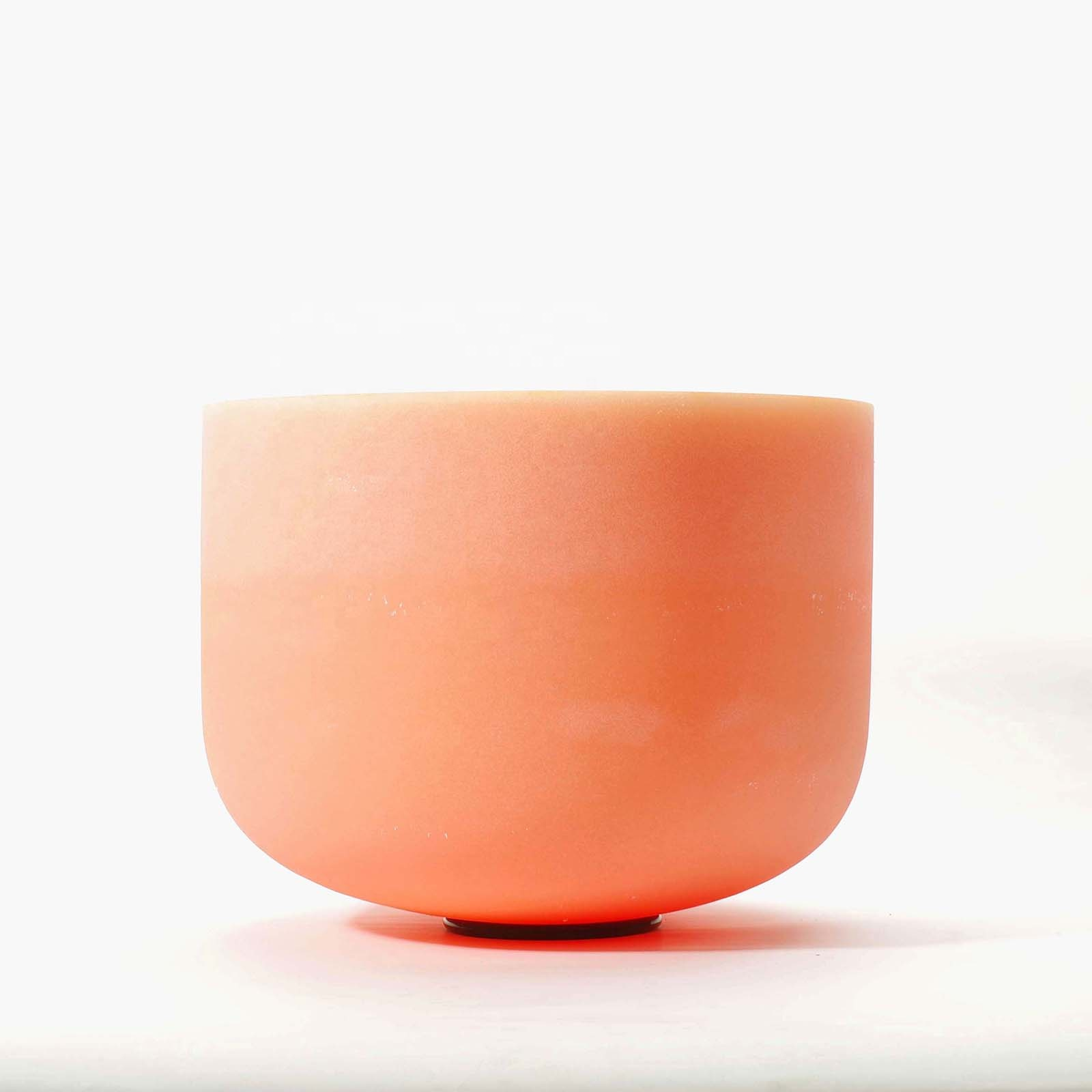 SUCCESS 8 Inch Orange Color <strong>D</strong> Note Navel Crystal Singing Bowl for Sound Healing