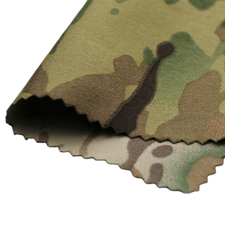 95%<strong>Nylon</strong> 5%spandex <strong>nylon</strong> four way stretch elastic breathable Fabric camouflage print 4 way stretch fabric
