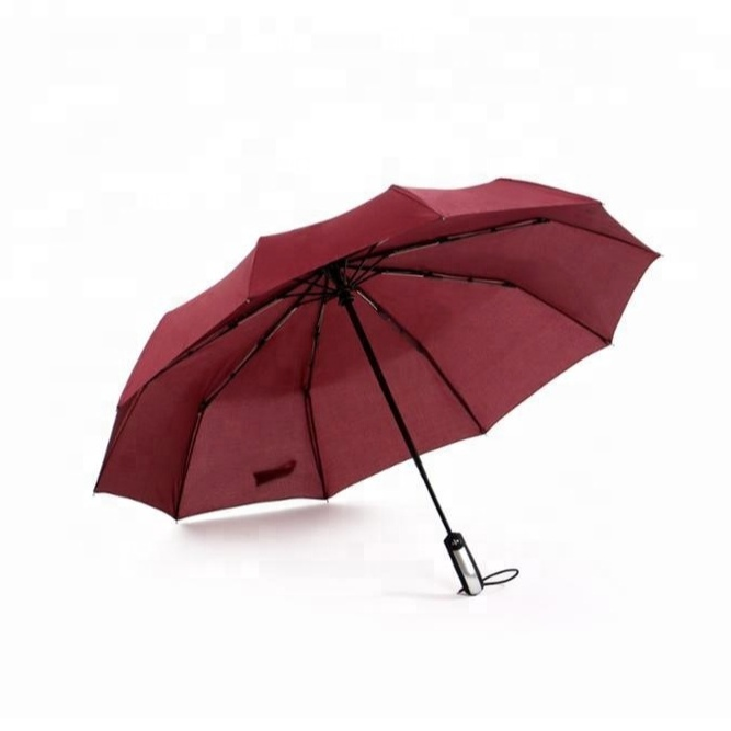 23 Inch X 10Ribs <strong>Promotional</strong> Big Size Auto Open And Quto Close Customized Fold Umbrella 20F001