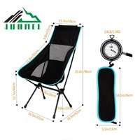Sets up quickly and easily folding Custom OEM Aluminum 7075 lightweight folding camping chair portable single camping chair