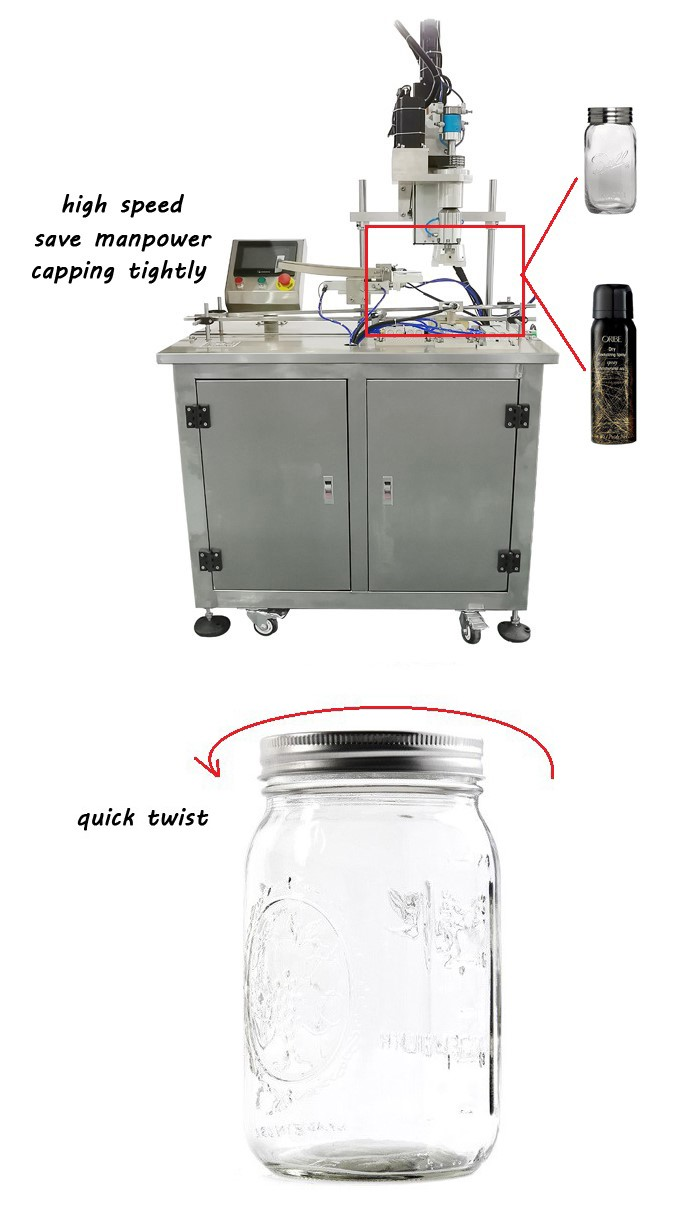 capping machine for plastic jar