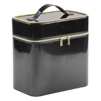 professional travel leather box makeup kit cosmetic case wholesale price