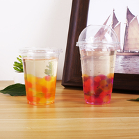 Biodegradable SGS approved coloful PLA beer drinking cup with lid and straw