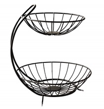 2-tier Countertop <strong>Fruit</strong> Basket Holder high quality metal <strong>fruit</strong> bowl stand 2-tier <strong>fruit</strong> bowl stand
