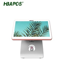 STOCK 15.6 inch J1900/4G/64G Capacitive Touch Dual Screen Pos <strong>System</strong> With Wifi