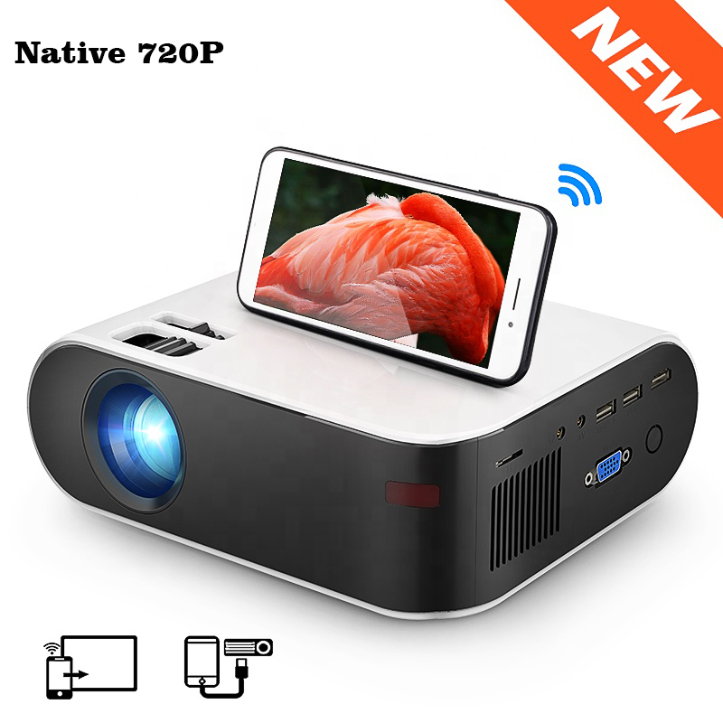 [2020 New <strong>Mini</strong> 720P Micrast Wifi Version Projector ] AliexpressTop OEM ODM Factory Native 720p <strong>Mini</strong> Portable LED Home Projector