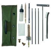 Gun cleaning kit belt clip tactical canvas bag anti-rust oiled rods .223 or .308