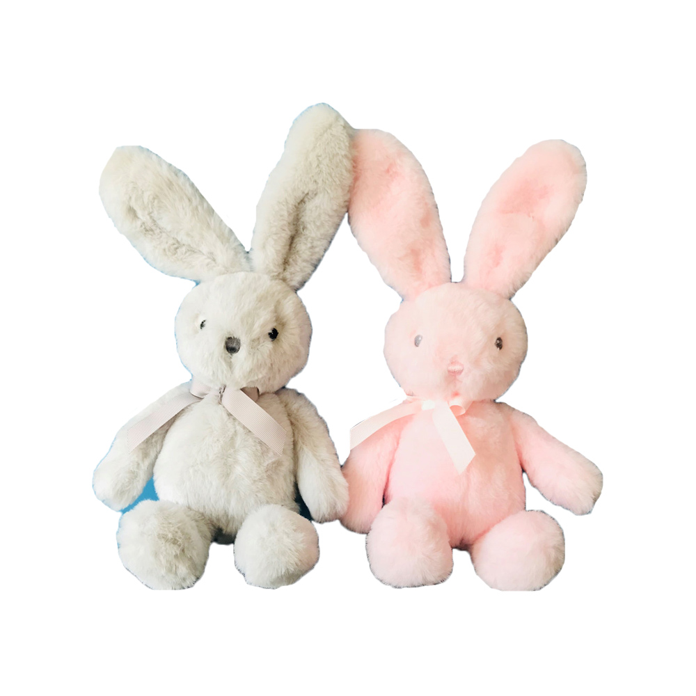 Factory direct sale best choice animal rabbit <strong>plush</strong> fabric toys with Bow tie for kids