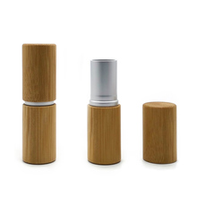 Wanuocraft Empty <strong>100</strong>% Natural Bamboo Shell DIY Bamboo Lipstick Tube Lip Balm Container
