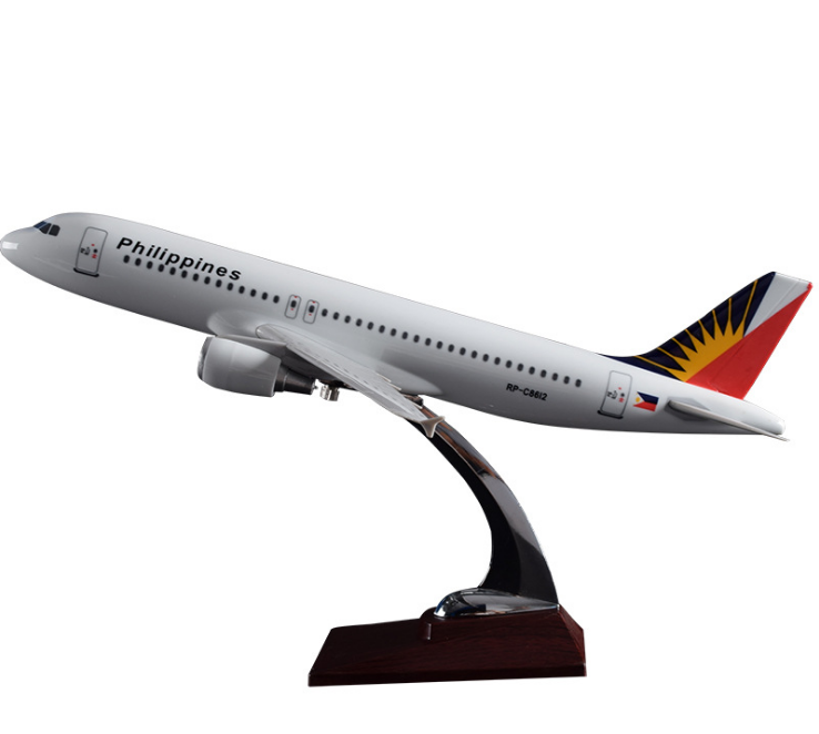 Customized <strong>model</strong> A320 Philippine Airlines resin 37cm creative crafts aircraft <strong>model</strong> wholesale home decoration