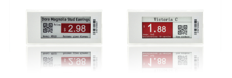 EASTSUN 2.9 inch 3 Colors E-ink E-paper electronic shelf label with different colors frame