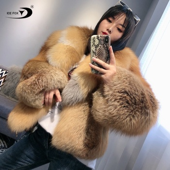 High-End Custom Fox Fur Coat Faux Leather Jacket Winter Fur Jacket Women Clothing Real Fur Coat