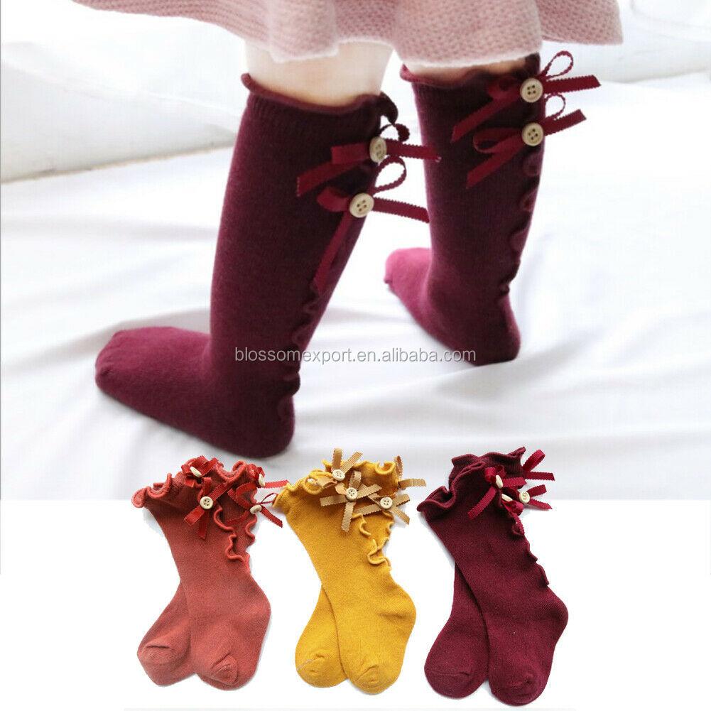 Baby Girl Toddler Kid Socks Cotton Knee High Long Socks Needle Princess Stocking