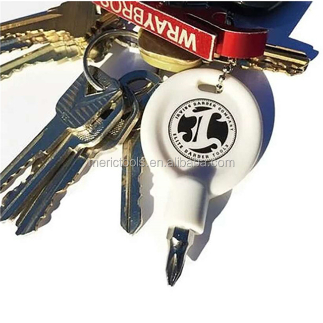 Customized Key Shape Pocket Screwdriver with Keychain