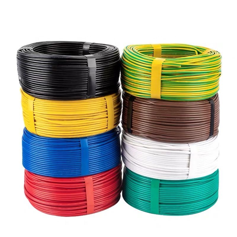 BVR 1mm2 1 Sq 17AWG Gauge Multi Strand Single Core Copper Insulation PVC Flexible Sheathed Price Power Electrical Wire <strong>Cable</strong>