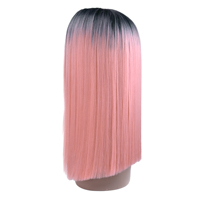 premium miss rola lido pink synthetic wig, private label ombre color synthetic lace front wig for white women