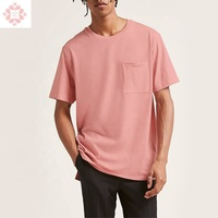 Luxury high quality 100% bamboo cotton plain custom design blank pocket men t shirt