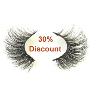 30% discount sales natural long cruelty free soft faux 5d mink eyelashes