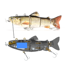 2019 New Design Electronic <strong>Fishing</strong> <strong>Bait</strong>,Tope Quality 4 Segment Metal Connected Bass Hard <strong>Fishing</strong> Lure