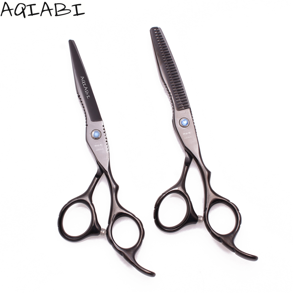 Hair Scissors 5.5'' 6&quot; JP <strong>Steel</strong> Hair Cutting Scissors Thinning Shears Hairdresser Scissors Black <strong>A1011</strong>