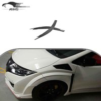Carbon Fiber Headlight Eyelid Eyebrows Cover Sticker for Hond a civic 2015-2016 front bumper
