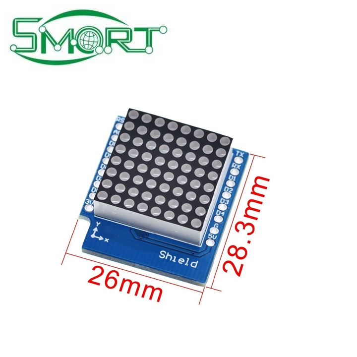 Smart Electronics Suitable for WEMOS D1 digital signal output controller module matrix LED shielding V1.0.0 8X8 point board