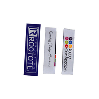 Custom Brand Logo garment clothing labels woven satin tags custom wholesale
