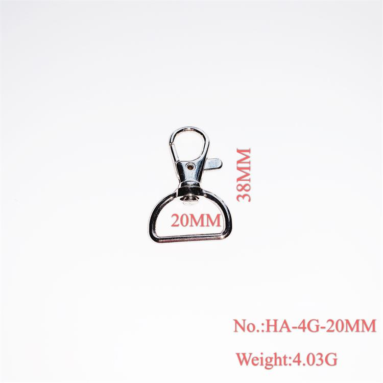 Bag Hardware Stainless Steel Swivel Key Chain Snap Hook 20mm