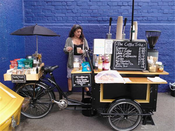 new design coffee tricycle for mobile business