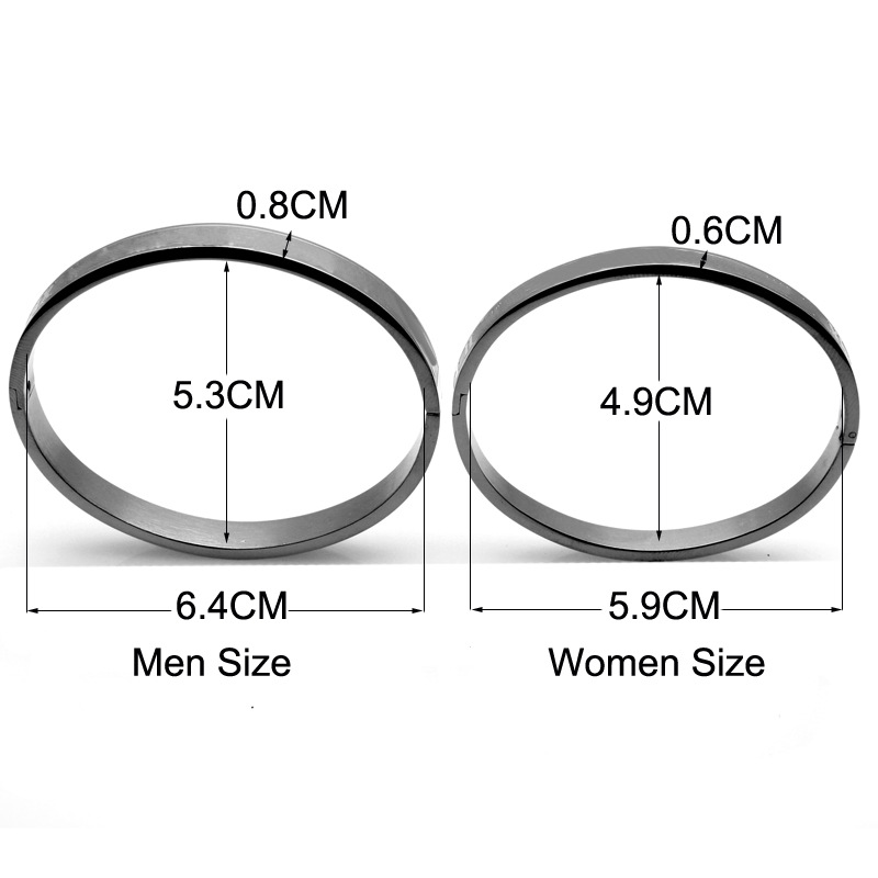 Classics Style Stainless Steel Bangle Roman Numeral Fit Women Men Couple Bracelet