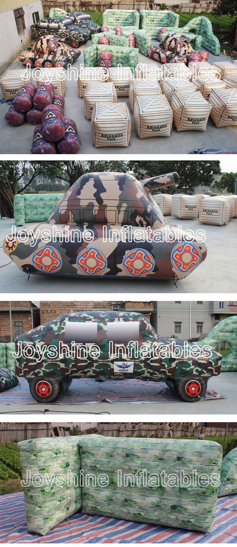 Interactive Shooting Game Archery Target Used Tank Paintball Air Bunker Set Inflatable Tank Paintball For Team