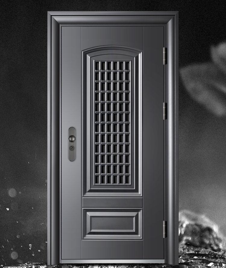 Luxury Single Exterior Security Steel Door Price for House Steel Mesh Door Design