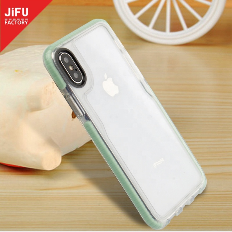 For iPhone customize color Two-tone phone <strong>case</strong> transparent Hard PC phone cover for iPhone X/XR