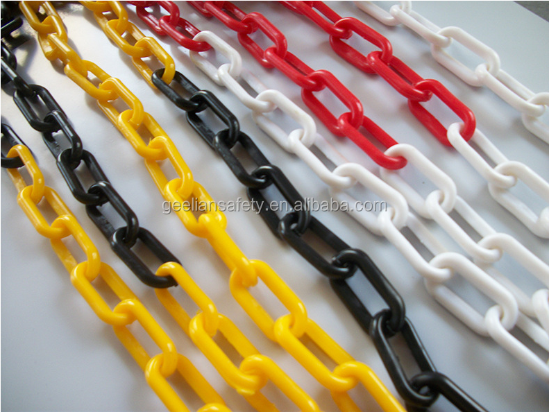 Worksite safety warning chain / Traffic warning chain / Plastic chain
