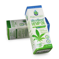 Customize design print hemp oil drops paper box 20pt 350g CBD oil packaging