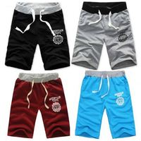 New Fashion Men Summer Loose Half Length Short Solid color Pockets Comfort Casual Middle Trousers Sports Beach Short Pants