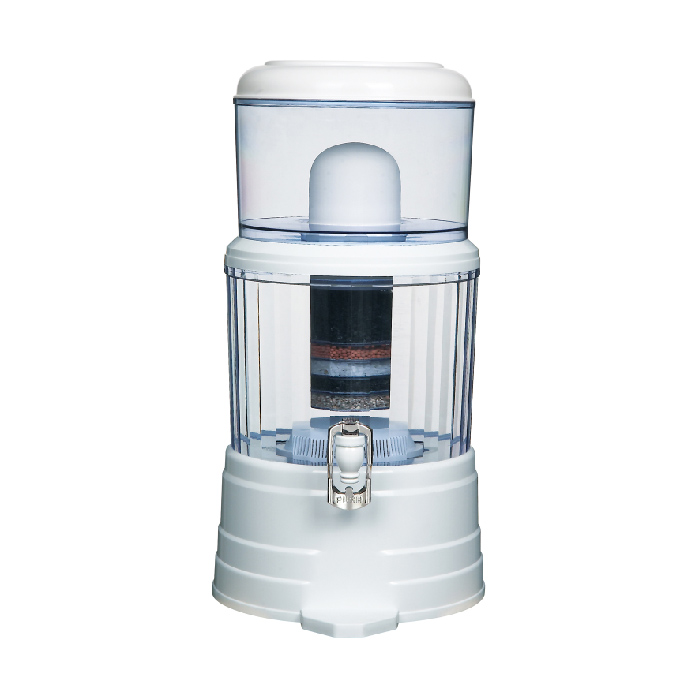 14L Flat lid water purifier filter with alkaline cartridge 7 steps <strong>filtration</strong>