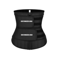 New Design Double Belt High Compression Custom Waist Trainer Latex Belt