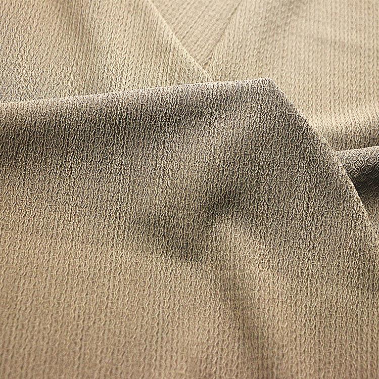 4 metre length khaki coloured liverpool stretch fabric jaquard clothing