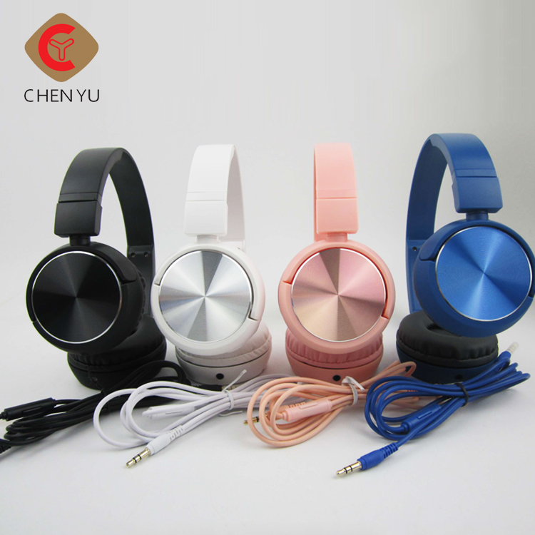 Wholesale 3.5mm stereo plug foldable earphones wired headphone earphone with Customized packaging