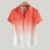 Hot Style Popular Men's Stand Collar Gradient Short Sleeve Shirt Men