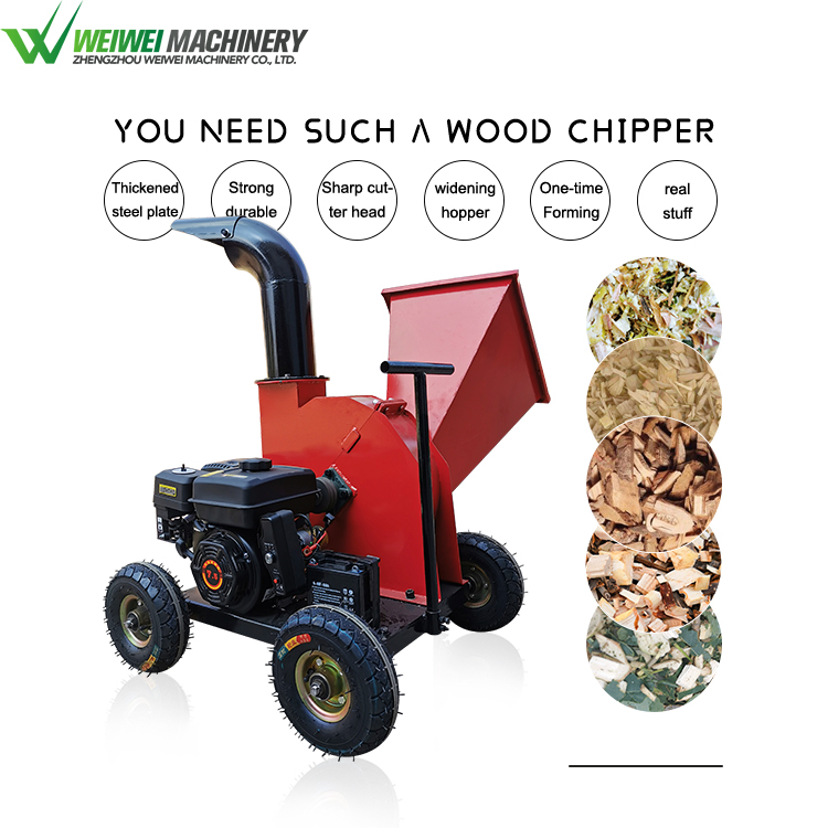 heptose tree wood sprig chipping and crushing machinery