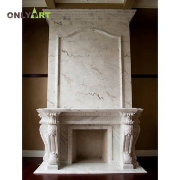 customized size natural stone double mantel sale