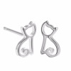 New Arrivals Cat Stud Earrings 925 Sterling Silver Stud Earrings For Women Jewelry Pendientes Brincos