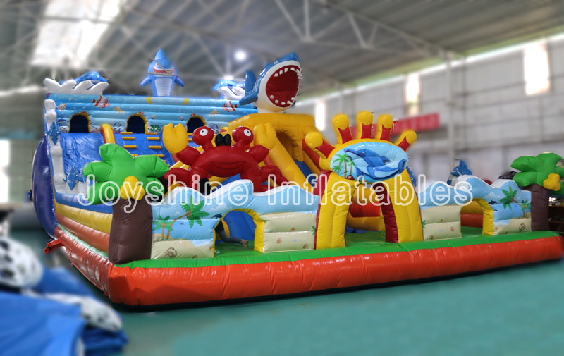 Big Blow Up Inflatable Castle Slide Playground Kids Children Jumping Fun City Amusement Inflatable Park For Sale